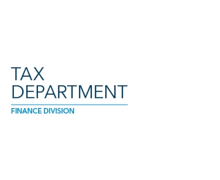 Large brand image for the Tax Department